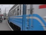 Электропоезд ЭР1-227 прибывает на станцию Мекензиевы горы Приднепровской железной дороги