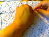 Соединение полос ленточного кружева
